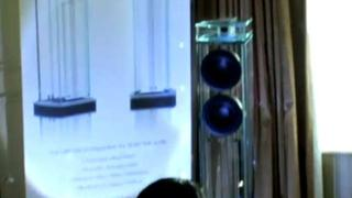 Waterfall showcase Niagara speakers (CES 2009)